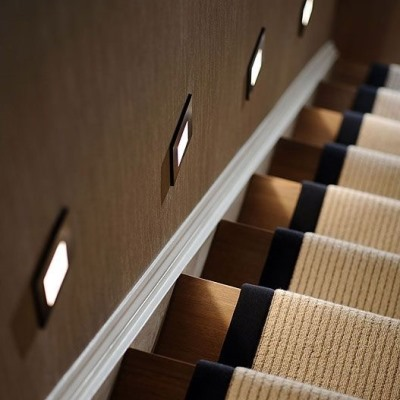 automatic stair lighting automatic light stairs. Black Bedroom Furniture Sets. Home Design Ideas
