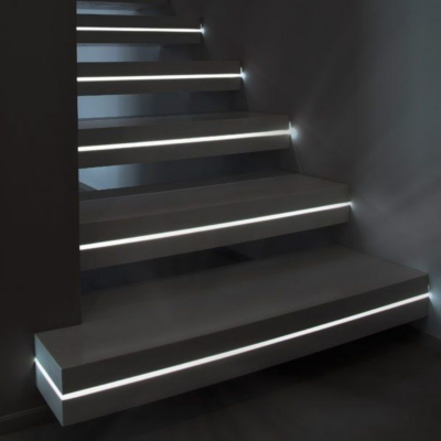 Automatic lighting stair steps