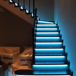 Automatic LED stair lighting