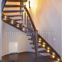 Smart stairs lighting with spotlights