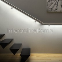 Automatic railing stairs lighting