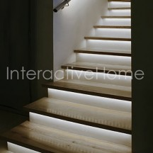 "Automatic stair lighting with controller ""Compact"" and LED strips"