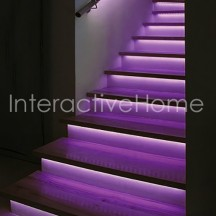 "Auto stair lights with controller ""Compact"" and RGB LED strips"