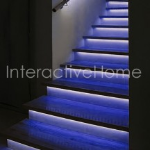 "Stair lighting with controller ""Compact"" and RGB LED strips"