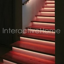 "Automatic stair lights with controller ""Compact"" and RGB LED strips"