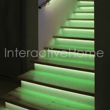 Automatic stair lighting with RGB LED strips