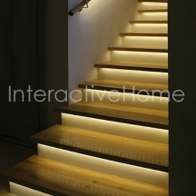 Smart stair lighting with RGB LED strips