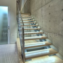 Interactive stairs steps lighting