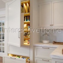 Automatic kitchen cabinets lighting