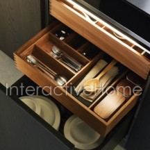 Automatic kitchen drawers backlight